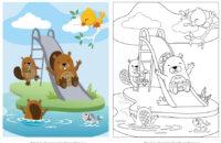 Εσωτερική σελίδα - Χρωματίζω τα ζωάκια Ι
